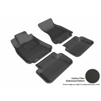 3D MAXpider 2009-2016 Audi A4/S4/RS4 Front & Second Row Set All Weather Floor Liners in Black with Carbon Fiber Look