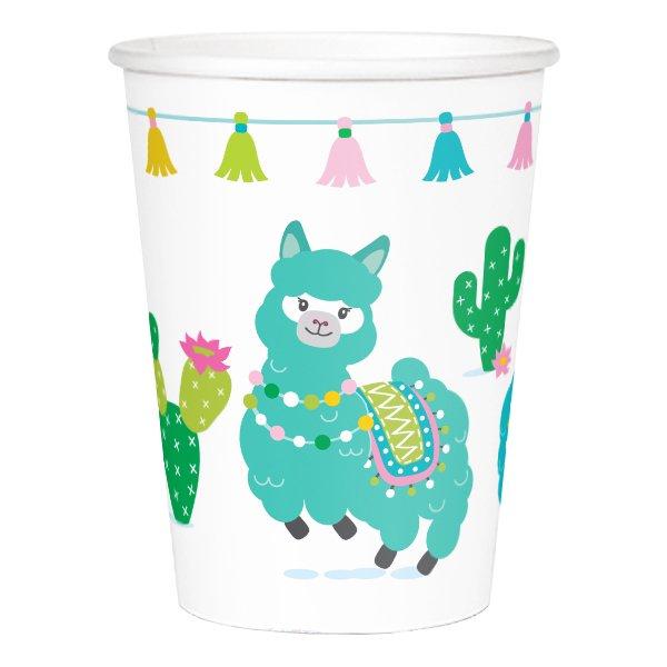 Alpaca Llama Paper 9oz Cups 24ct Walmart Com Walmart Com