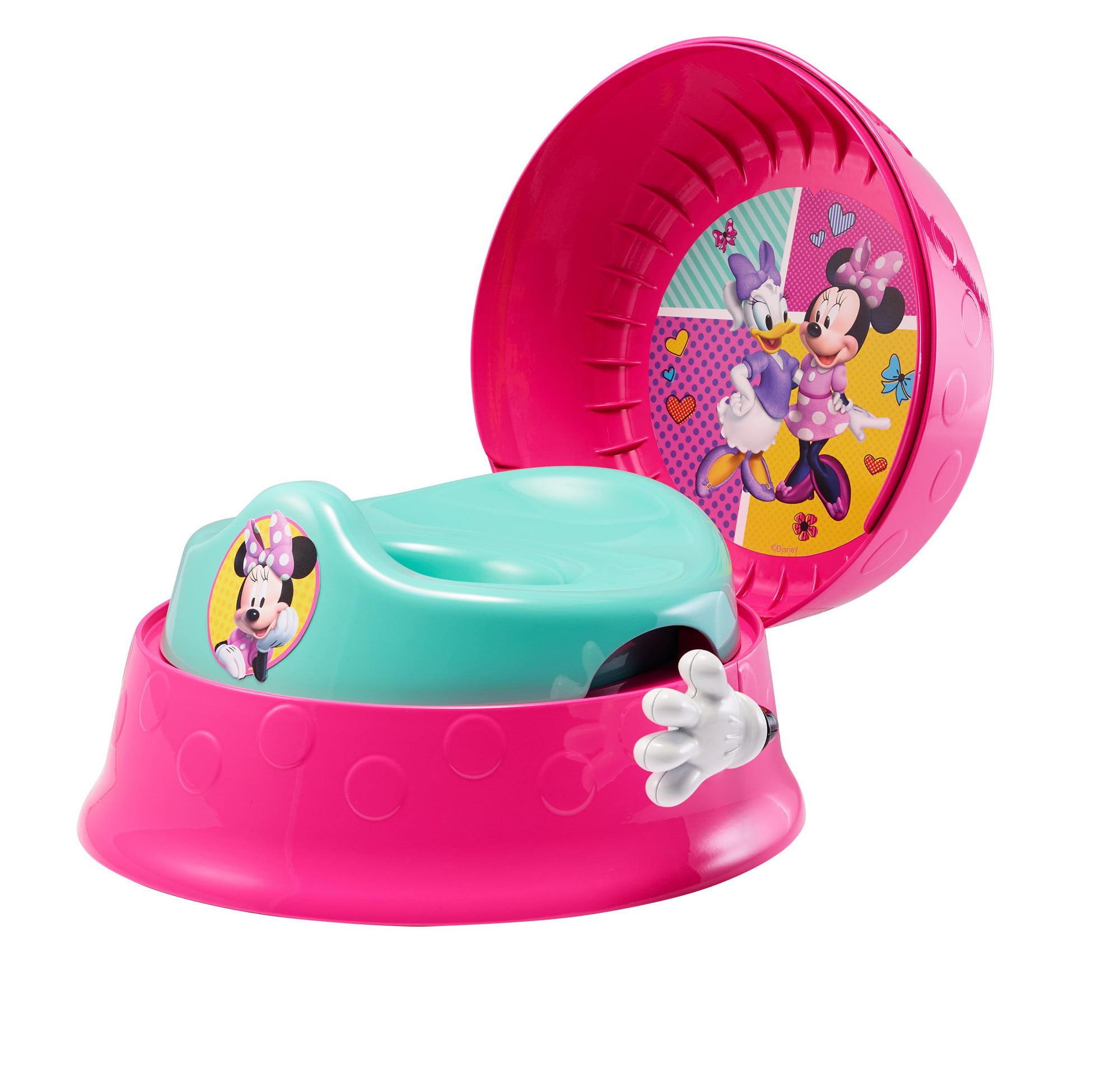 Disney Minnie Mouse 3-in-1 Potty Training Toilet, Toddler Toilet Training Set