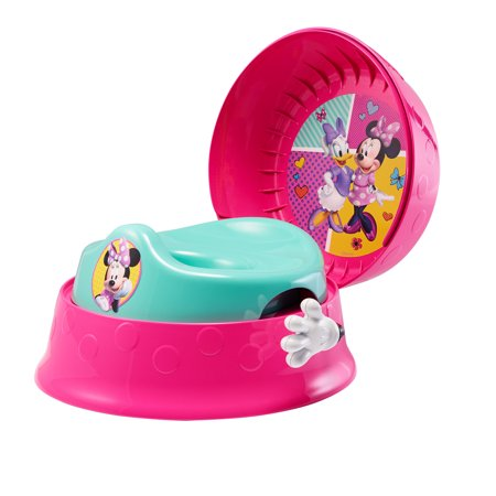 Disney Minnie Mouse 3-in-1 Potty Training Toilet, Toddler Toilet Training