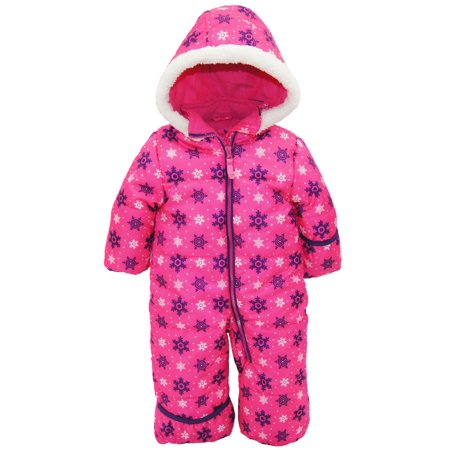 190f332ad Pink Platinum - Baby Girls One Piece Warm Winter Snowsuit Pram Suit ...