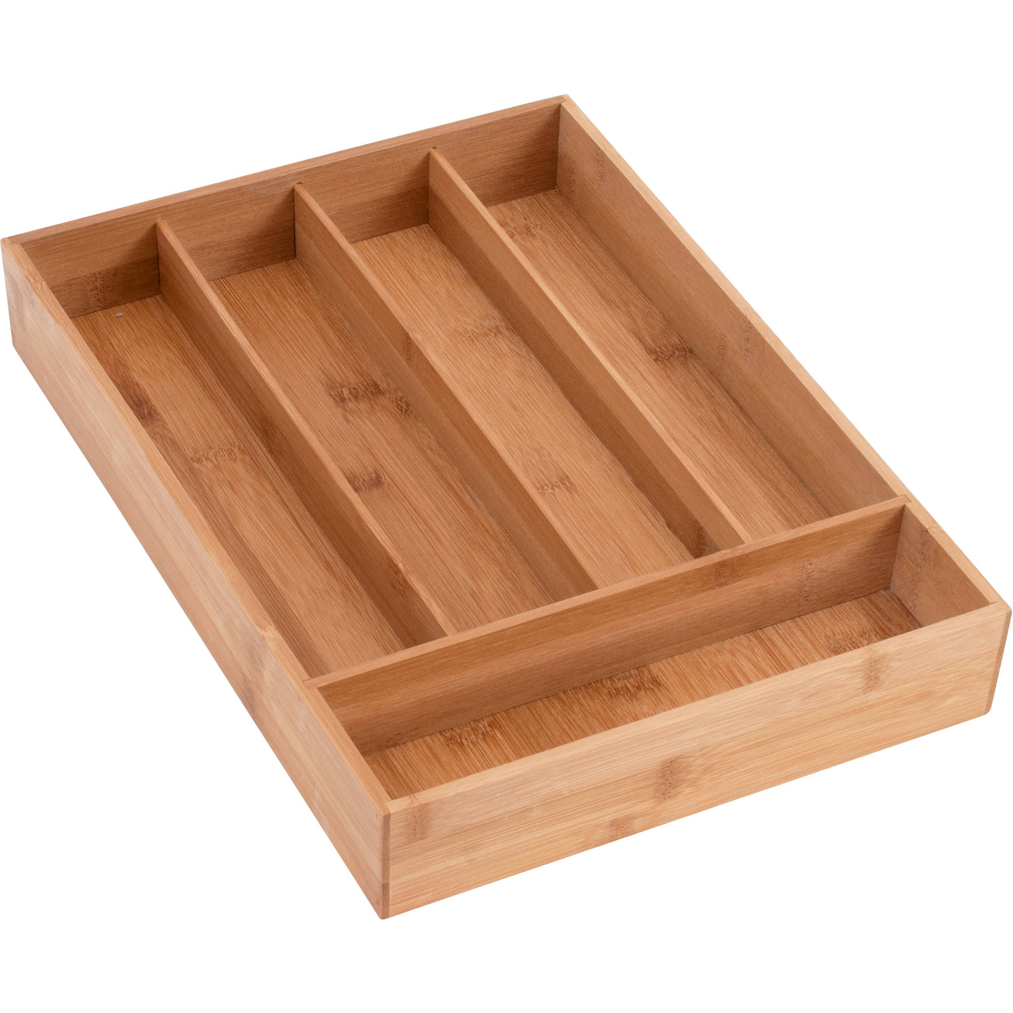Better Homes and Gardens Anchor Hocking Cutlery Tray Bamboo Drawer Organizer