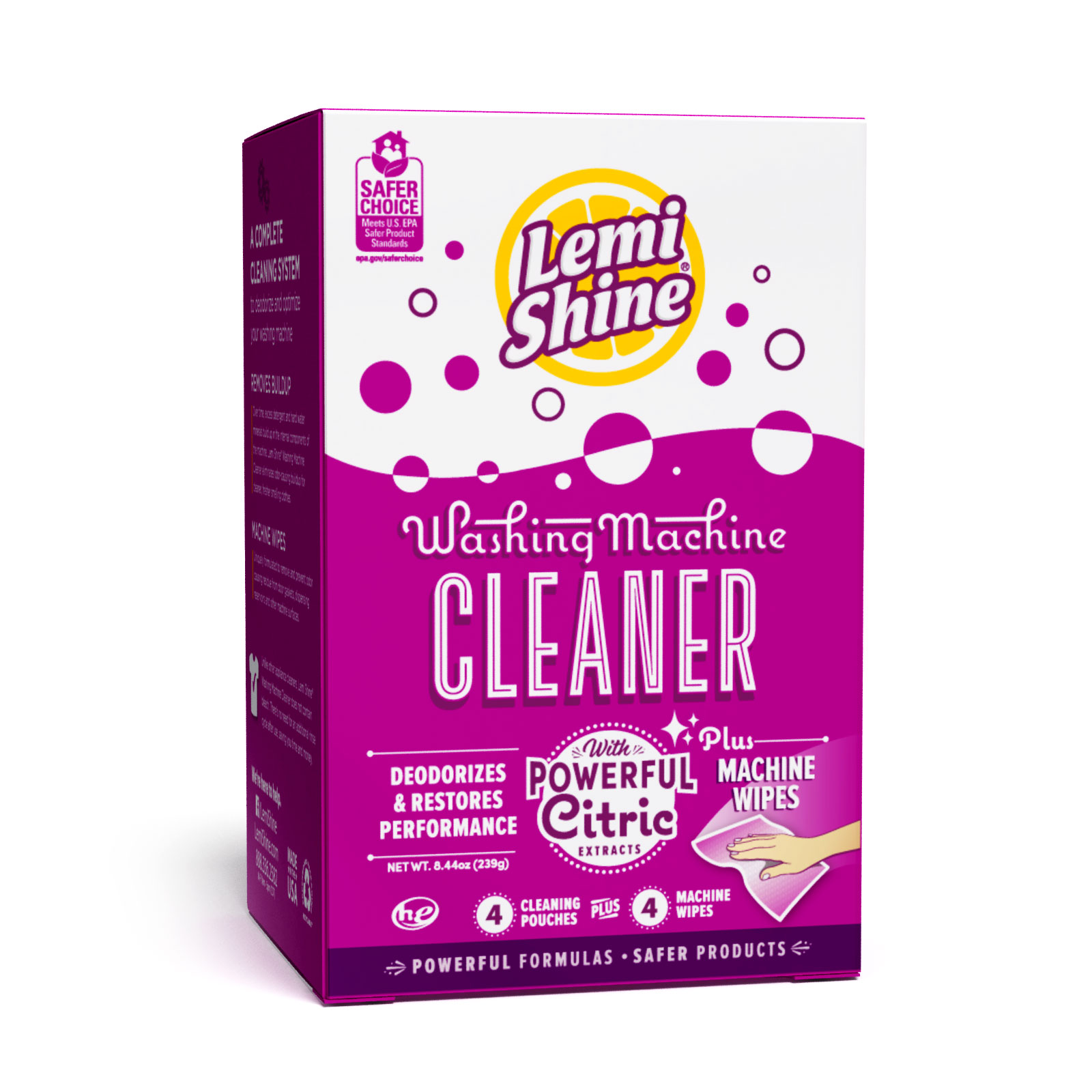Lemi Shine Washing Machine Cleaner 4 Pk Wipes Walmart Com Walmart Com