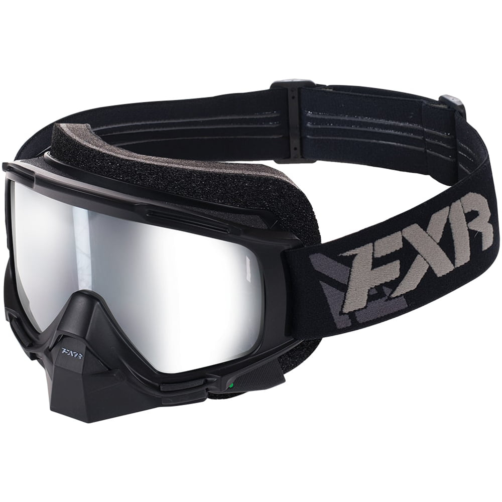 FXR Mission Electric Goggle Authentic Polycarbonate Anti-Scratch Snowmobile Black Ops OSFA by FXR