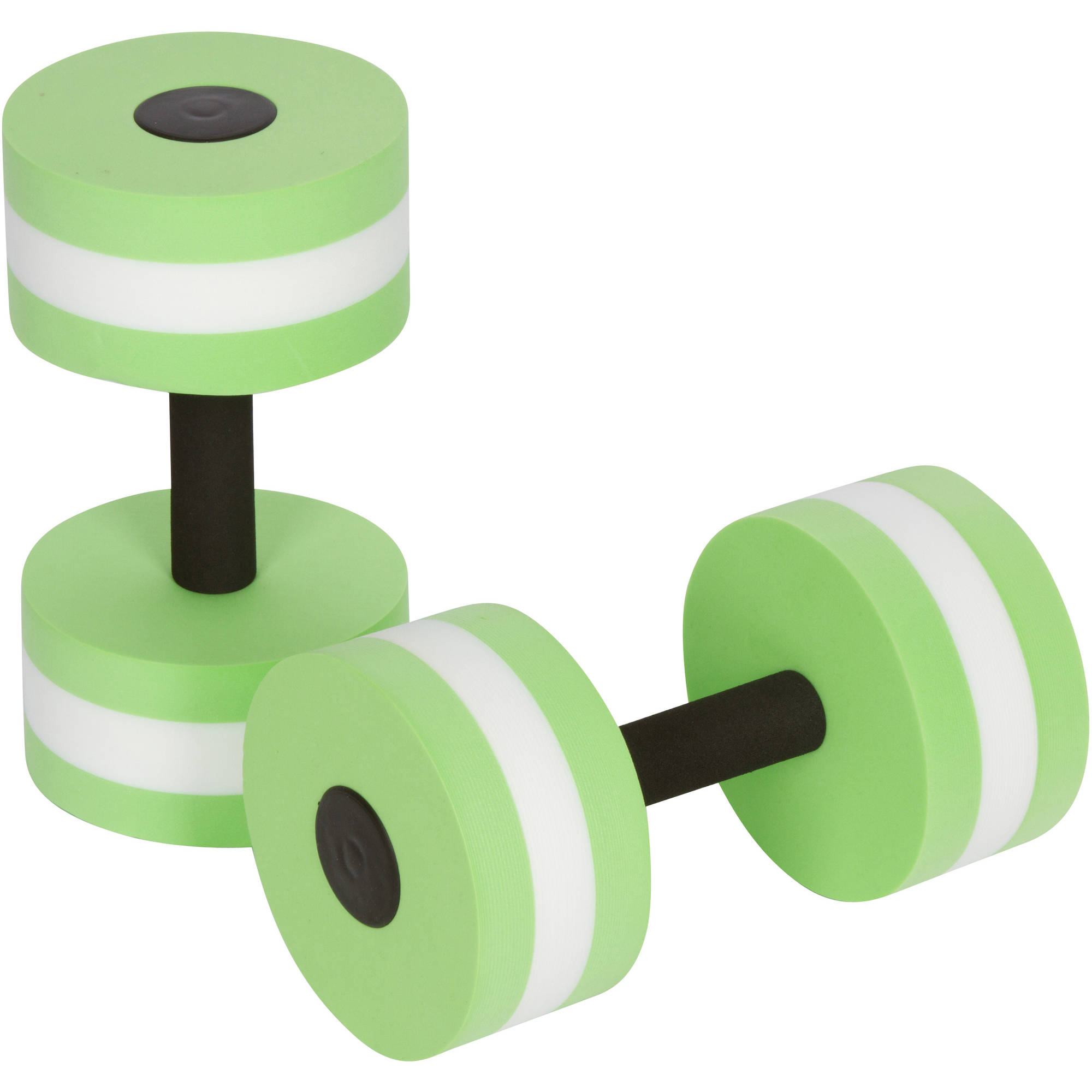 Aquatic Exercise Dumbells, Set of 2, For Water Aerobics, By Trademark Innovations, Light Green