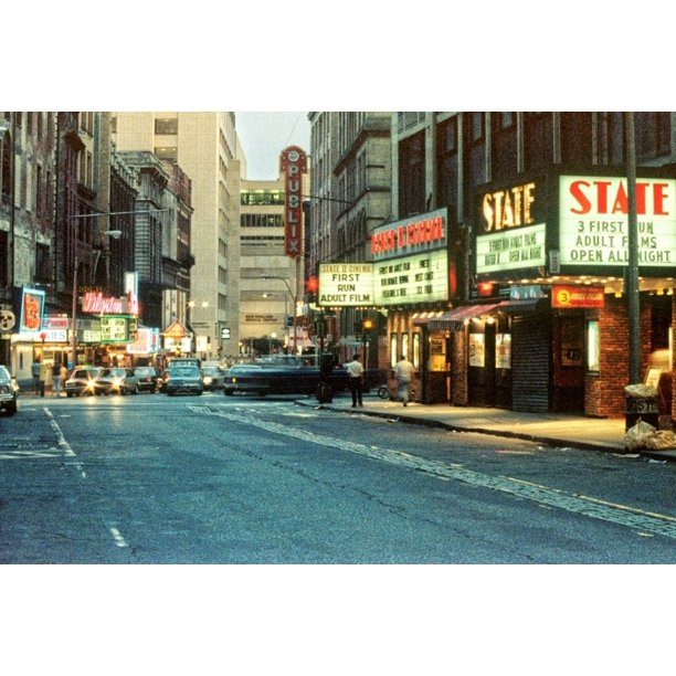 1980s Combat Zone Adult Entertainment Area Boston