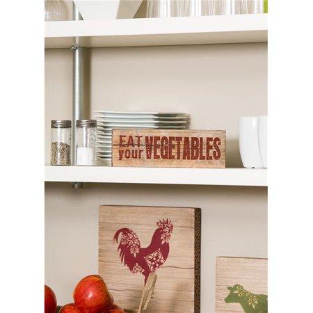 3 x 9 in. Farmhouse Vegetables Wood Sign - image 1 de 1