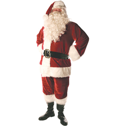 Lined Santa Suit Adult Costume, Size: 42-46 - One Size