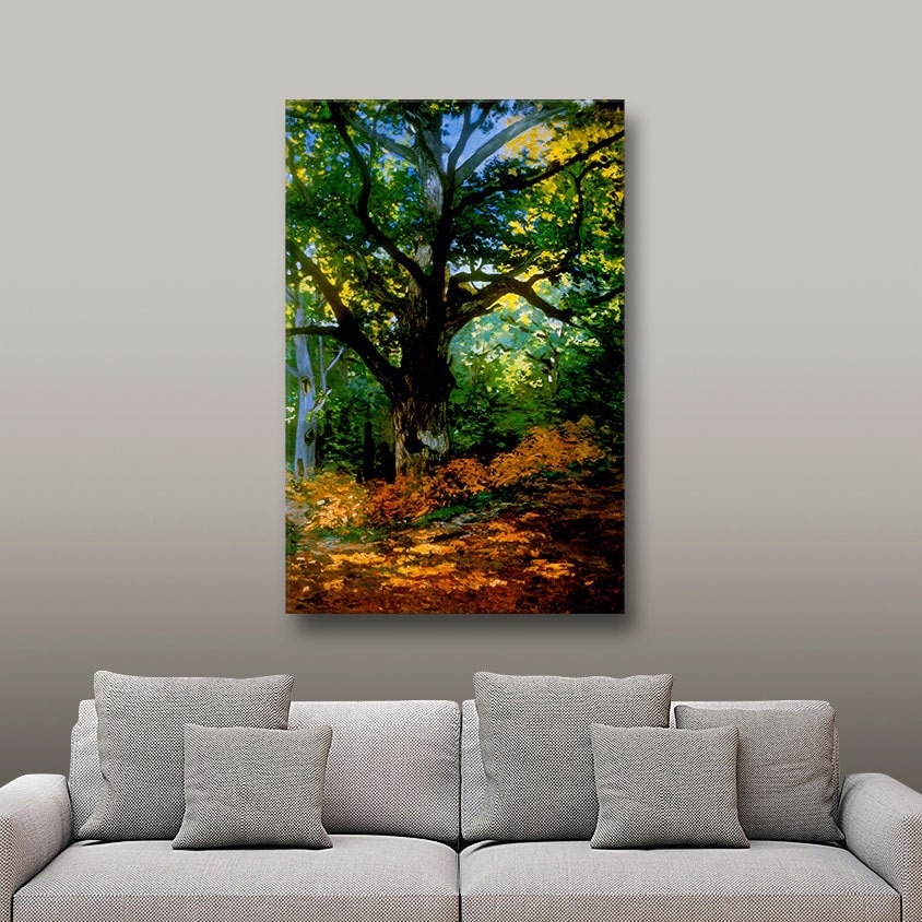 ArtWall Claude Monet 'Bodmer Oak at Fountainbleau Forest' Gallery Wrapped Canvas Small