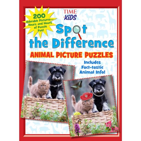 Spot the Difference Animal Picture Puzzles : 200 Adorable Pictures—Hours and Hours of Puzzle Fun (A TIME For Kids Book) for $<!---->