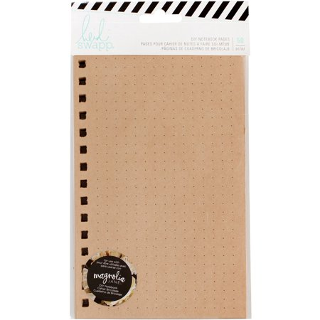 Magnolia Jane DIY Notebook Pages: Kraft with Black Dots