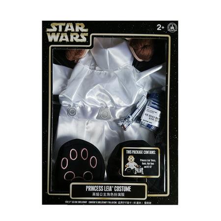 Bears In Star Wars (Disney Parks Star Wars ShellieMay The Disney Bear Princess Leia Costume w/)