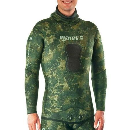 Mares Carbon - Mares Pure Instinct 3.5mm Green Camo Jacket (Green Camo, Medium)
