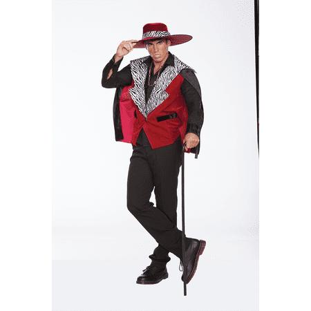 halloween Wholesalers Men Count Pimpula - Red Costume