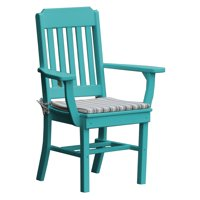 Radionic Hi Tech Cambridge Recycled Plastic Straight Back Patio Dining Arm Chair