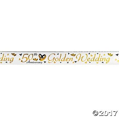 50th Golden Wedding Anniversary Foil Banner