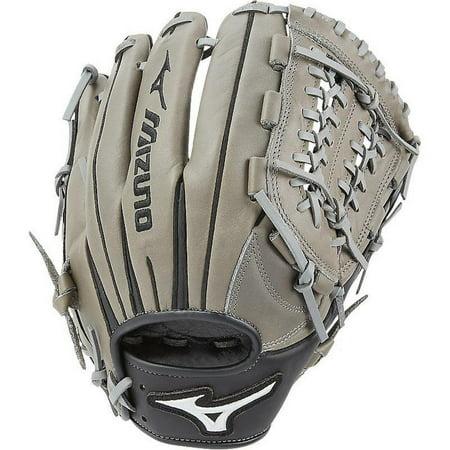 11.75 Infielders Baseball Glove - Mizuno Franchise Series Leather 11.75 Inch Infield Baseball Glove, Black Smoke
