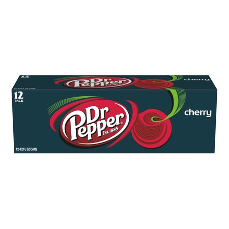 (2 Pack) Dr Pepper Cherry, 12 Fl Oz Cans, 12 Ct