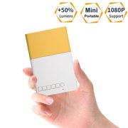 Mini Projector, EEEkit Portable LED Projector Support PC Laptop USB AV/HDMI Input for Video/Movie/Game/Home Theater Video Projector, Best Christmas Birthday Gift for Kid and Family (Yellow)