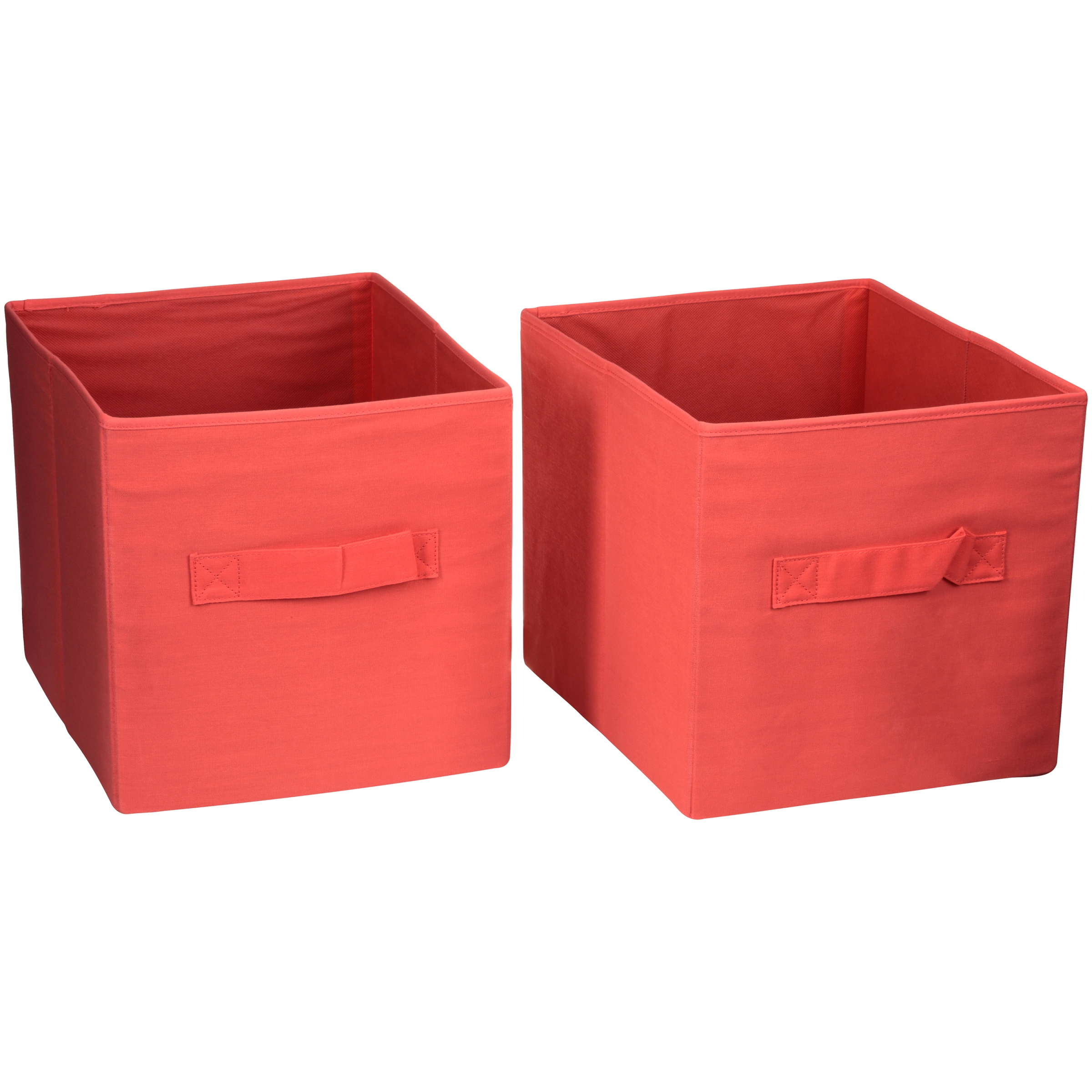 "Better Homes And Gardens 12.8""W x 12.8""D x 15""H Collapsible Fabric Cube Storage Bin, set of 2, multiple... by Imported"