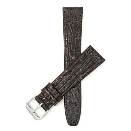 20mm Bracelet de montre en cuir véritable, fin, motif lézard - image 7 de 7