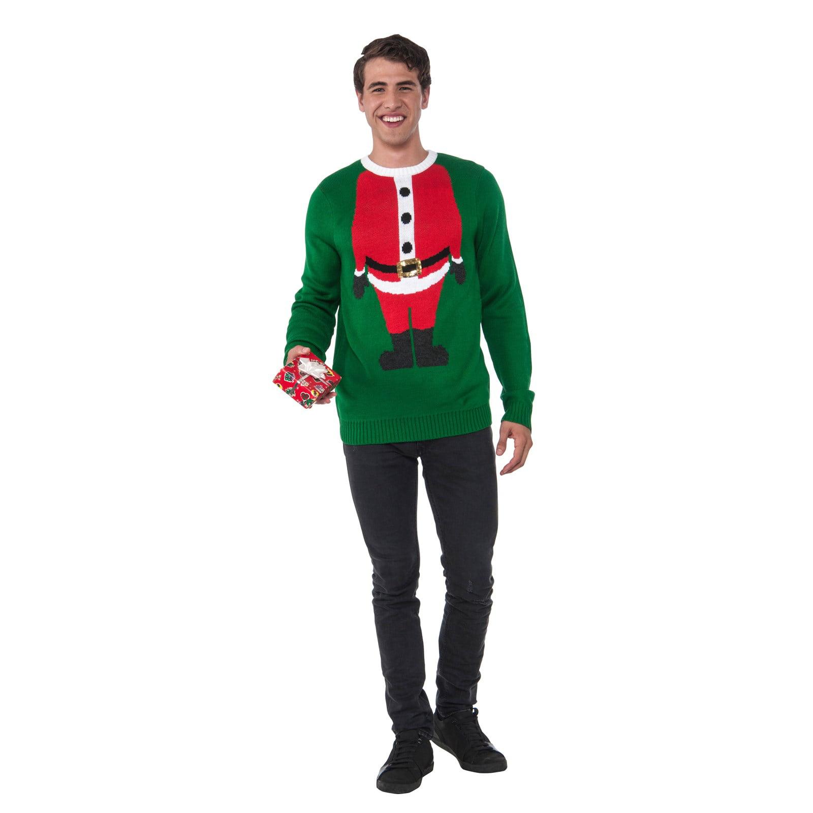 Men\'s Santa Head Christmas Sweater