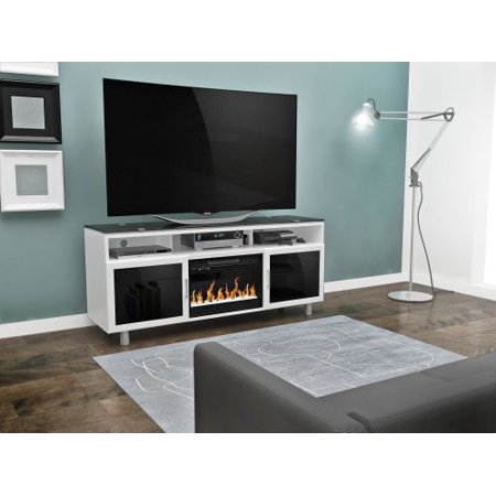 Bowden Flat Panel TV Stand With 26″ Logset Fireplace Insert