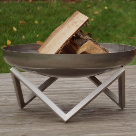 Curonian Memel Stainless Steel Wood Burning Fire Pit