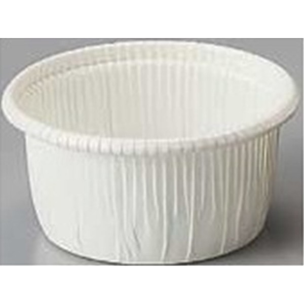 2.3Dia. x 1.4H Curled Baking Cup White Medium,Case of 500
