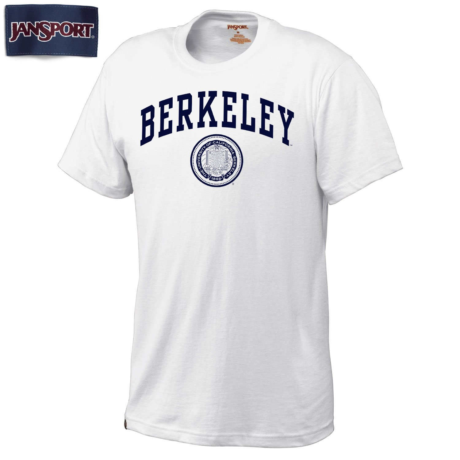 UC Berkeley Arch & Seal Men's T-Shirt-White