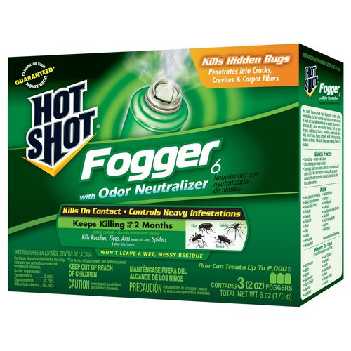 Hot Shot Fogger6 with Odor Neutralizer, 2 oz, 3 count