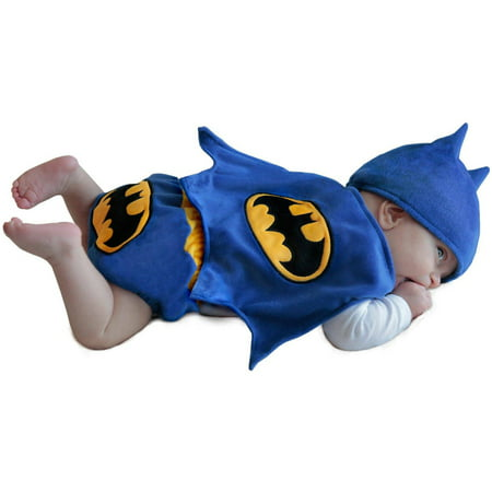 Batman Diaper Cover Infant Halloween Costume, 0-6 Months - Bumble Bee Halloween Costume 12 Month
