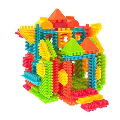 PicassoTiles PTB120 120pcs Bristle Shape 3D Building Blocks Tiles  Construction Playboards, Creativity beyond Imagination, Inspirational,  Recreational,