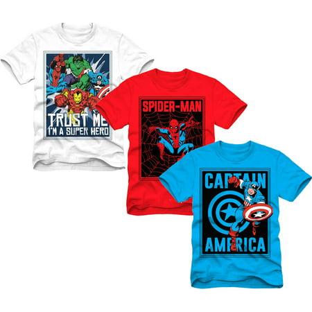 ef67402d92 Avengers - Marvel Superheroes Boys Graphic Tee