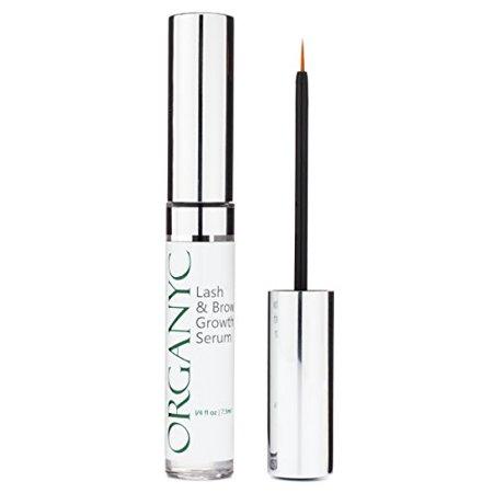 56c34b166e4 Organyc Eyelash & Eyebrow Growth Serum (High Potency) Grows Longer, Fuller,  Thicker