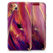 Blurred Abstract Flow V17 - DesignSkinz Protective Vinyl Decal Wrap Skin Cover compatible with the Apple iPhone XS (Full-Body, Screen Trim & Back Glass Skin)