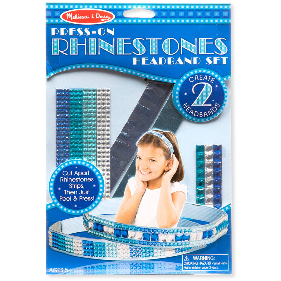 Melissa & Doug Press-On Rhinestones Headband-Making Set (Makes 2 Headbands)