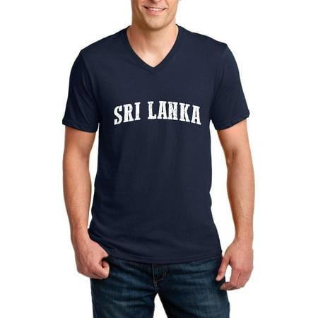 What To Do in Sri Lanka Travel Guide Deals Colombon Map Sri Lankan Flag Ringspun Men V-Neck T-Shirt