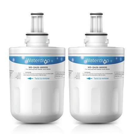 2 Pack Waterdrop DA29-00003G Replacement for Samsung Aqua-Pure Plus DA29-00003G, DA29-00003B, DA29-00003A, HAFCU1 Refrigerator Water