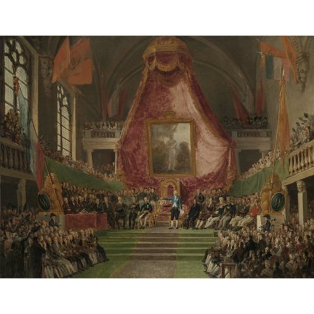 Uration Of University Of Ghent By The Prince Of Orange In The Throne Room Of The Town Hall On Oct 9 Canvas Art -  (36 x 24) (Town Hall 9 Halloween)