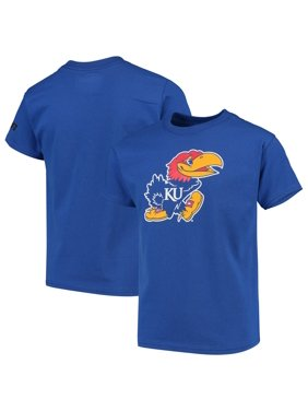 Kansas Jayhawks Russell Youth Oversized Graphic Crew Neck T-Shirt - Royal