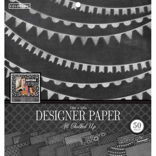 "Colorbok 12"" Designer Paper Pad, All Chalked Up"