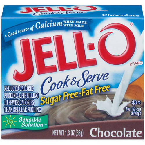 Jell-O Sugar Free & Fat Free Chocolate Cook & Serve Pudding & Pie Filling, 1.3 oz