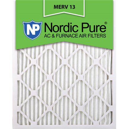 Nordic Pure 10x12x1ExactCustomM13-6 Exact MERV 13 AC Furnace Filters, 10 x 12 x 1 in. - Pack of 6 - image 1 of 1