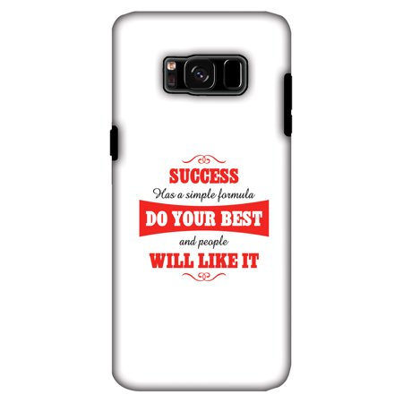 Samsung GALAXY S8 Case, Premium 2 in 1 Slim Fit Handcrafted Printed Designer ShockProof Heavy Duty Protection Case Back Cover for Samsung GALAXY S8 G950 - Success Do Your