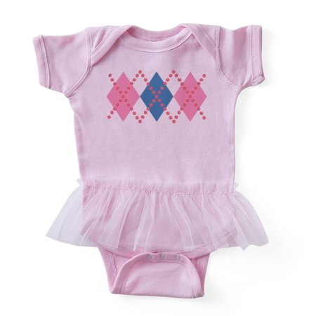 CafePress - Flower Argyle - Cute Infant Baby Tutu -