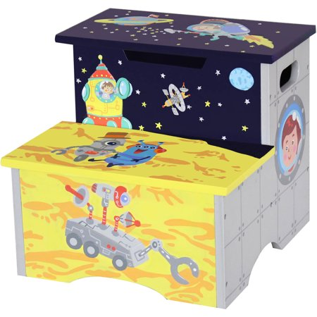 Wooden Step Stool - Fantasy Fields Outer Space Step Stool