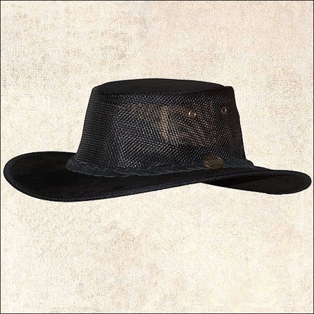 cfda609e5556cc MEDIUM BLACK BARMAH HAT FOLDAWAY SUEDE COOLER SUN PROTECTION LINER MADE IN  USA