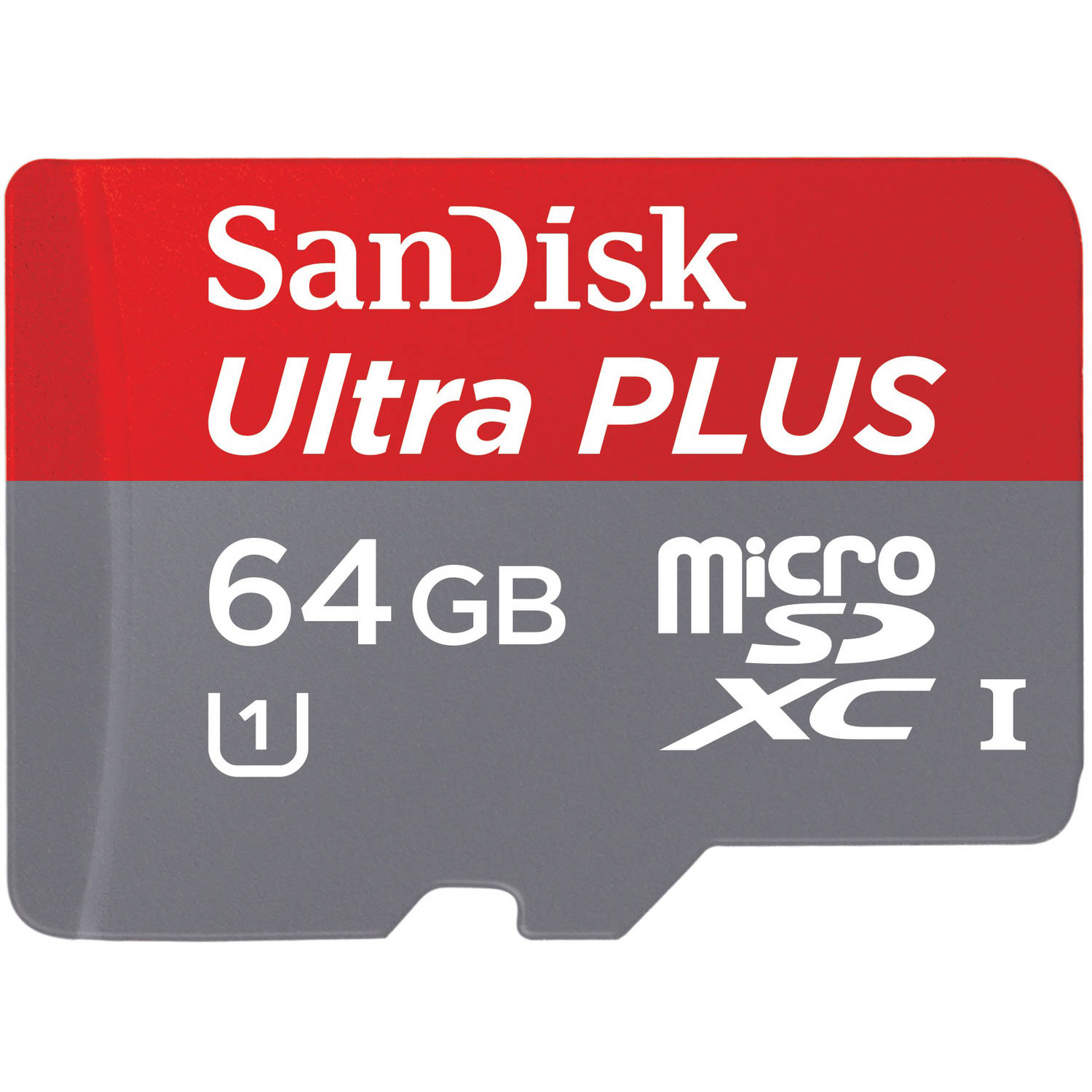 SanDisk Ultra PLUS 64GB microSD Card, Mobile, Class 10