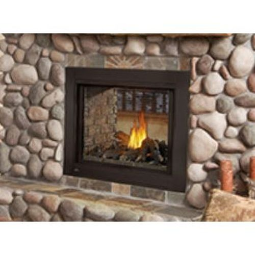 See Thru Clean Face Fireplace with Logs - Natural Gas